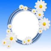 Designer background with the flowers of white color — Stock Photo