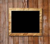 Placard of black in a decorative scope — Stock Photo