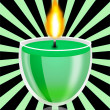 Stockfoto: Conflagrant decorative candle