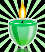 Conflagrant decorative candle — Stock Photo