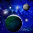 Bright abstract celestial landscape , collage — Stock Photo #25400427