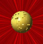Bola y fondo rojo abstracto — Foto de Stock