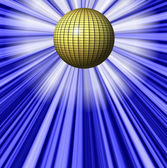 Abstract blue background and ball — Stock Photo