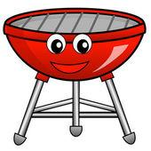 Barbecue 的白色背景上的红颜色 — 图库照片