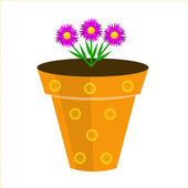 A beautiful room flower is in a pot, illustration — Stock Photo