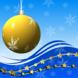 Bright beautiful christmas background with a festive ball — Stockfoto