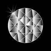 Stone diamond on a black background — Foto de Stock