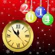Clock and new-year marbles with the numbers of coming year — Stock Photo
