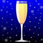 Vidrio con champagne — Foto de Stock
