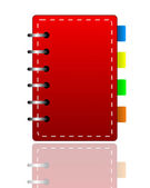 Bright red weekly on a white background — Stock Photo