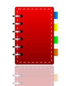 在白色背景上的亮红色周刊 — 图库照片