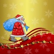 Foto Stock: Santclaus with sack of gifts