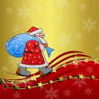 Stockfoto: Santclaus with sack of gifts