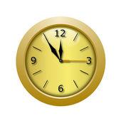 Round beautiful clock on a white background — Foto de Stock