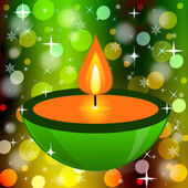 Bright beautiful candlestick on an abstract background — ストック写真