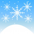 New-year festive background with snowflakes — Stock Vector #36329279