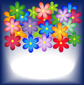 Bright background with flowers for a design — Stock Vector