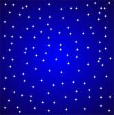 W nocy gwiazdy niebo — Wektor stockowy