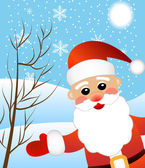 Santa claus on a background winter landscape — Stock Vector