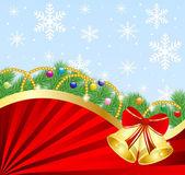 świąteczne boże narodzenie tło z gałęzie jodłowe i — Wektor stockowy