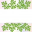 Stock Vector: Background for design with green branches