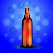 Stock Vector: Glass bottle with carbonated drink
