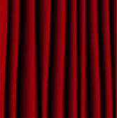 Cortina roja brillante, un fondo para el diseño — Vector de stock