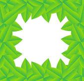 Fond avec des feuilles vertes — Vecteur