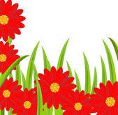 Fond avec des fleurs — Vecteur