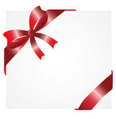 Greeting-card with a red bow — Stock Vector