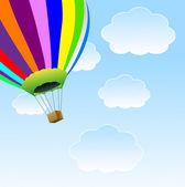 большой воздушный шар в голубое небо — Cтоковый вектор
