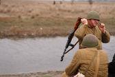 俄罗斯士兵 — 图库照片