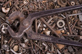 Old nail puller — Stock Photo