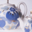 Two porcelain teapots — Stock Photo