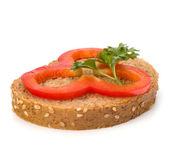 Sağlıklı sandviç sebze ile açın — Stok fotoğraf