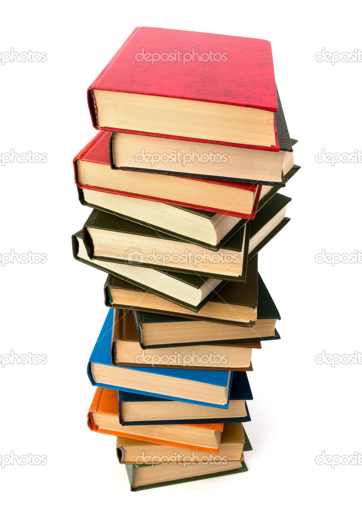 Book stack isolated on  white background — Stock Photo #12112214