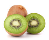 Whole kiwi fruit and his segments — Stockfoto