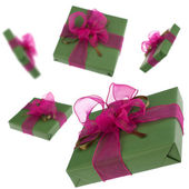 Flying gifts — Stock Photo