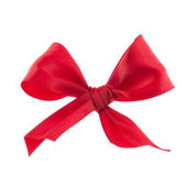 Festive gift ribbon and bow — Photo