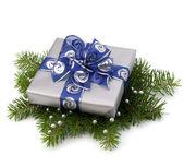 Confezione regalo argento — Foto Stock