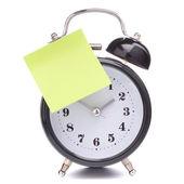 Relógio despertador com papel colante — Foto Stock