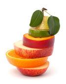 Mixed fruit slices — Stock Photo