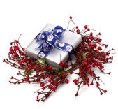 Festive gift box — Stock Photo