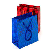 Glossy festive gift bags — Stock Photo