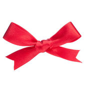 Festive red gift bow — Foto Stock