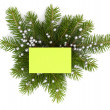 Christmas decoration with greeting card  — Stock fotografie