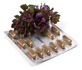 Herbal medicine isolated on white background — Stock Photo