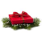 De doos van de gift van kerstmis — Stockfoto