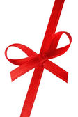 Festive gift ribbon and bow — Стоковое фото