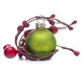 Palla di Natale verde — Foto Stock